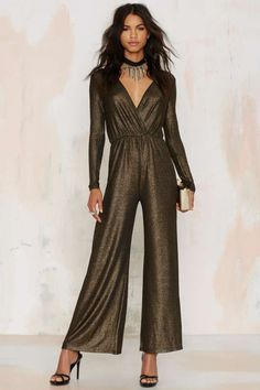 Oh My Love Jump Around Metallic Jumpsuit   Shop Clothes at Nasty Gal!
