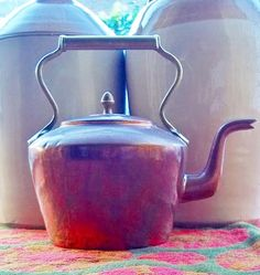 Anyone for tea ? Vintage Copper and Brass Kettle Old Original by thevintagearcade, $38.00
