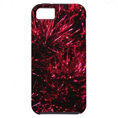 Red tinsel iPhone 5 case