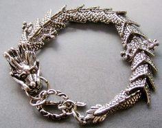 Alloy Metal Dragon Bracelet  T1860 by 8giftshop on Etsy, $2.90