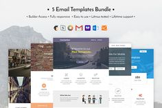 5 Email templates bundle by ThemesCode on Creative Market