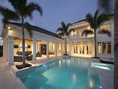 Contemporary home and pool