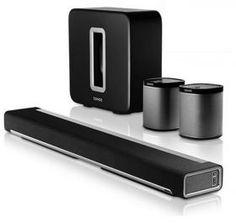 Sonos 5.1 Playbar & Play:1 & Sub Wireless Surround Sound Bundle