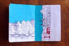 I amsterdam Illustration {The Sketchbook Project}