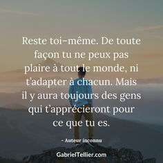Reste toi-même. #citation #citationdujour #proverbe #quote #frenchquote #pensées #phrases #french #français