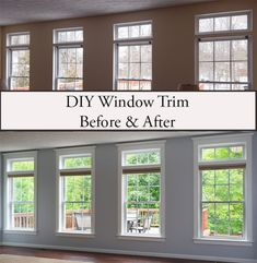 DIY Window Trim DIY Window Trim Gitte Possehl possehlg Renovierung Living Room Windows Before and After Adding Window Trim Farmhouse WindowTrim WindowTrimIdeas nbsp hellip Living Room Windows, Living Room Decor, Living Room Window Treatments, Small Window Treatments, Living Area, Living Rooms, Living Room Remodel, Living Room Upgrades, Basement Remodeling