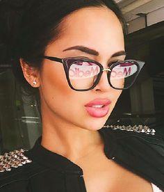0a7fd0c6d2ca3 Quality Womens Cat Eye Clear lens Glasses
