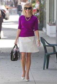 Reese Witherspoon mini saia
