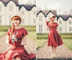 Retro Red Polka Dots feat. Formosa Swing Dress (from Unique Vintage) | A Clothes Horse