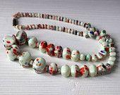 Vintage white venetian necklace
