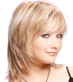 Medium Hairstyles with Bangs for Fine Hair   Wispy Medium Hairstyles ...