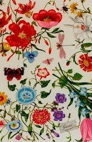 Designed by Gucci for Princess Grace of Monaco at her request, Original Gucci Flora print Motifs Textiles, Textile Patterns, Textile Prints, Textile Design, Print Patterns, Art Et Illustration, Illustrations, Surface Pattern Design, Pattern Art