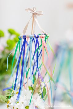 DIY: Decoration idea for the topping-out ceremony - DIY ° Deko & Selber machen - Garden Home Decor Baskets, Basket Decoration, Diy Home Decor, Easy Crafts, Diy And Crafts, Easy Diy, Mothers Day Crafts, Easter Crafts For Kids, Diy Gifts For Kids