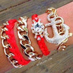 anchor bracelets, Modern and stylish bangles http://www.justtrendygirls.com/modern-and-stylish-bangles/