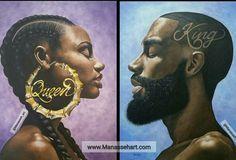 The Art of Manasseh Johnson Black Couple Art, Black Girl Art, Art Girl, Black Girls, Black Power, Caricatures, Dope Kunst, Book Art, Black Art Pictures