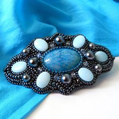 Midnight Fairy Tail barrette by BeadsForBeauty on Etsy, $55.00