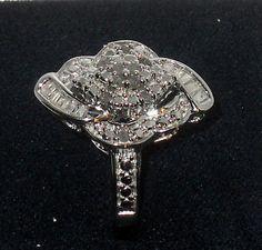 ON SALE NOW!  Genuine Diamond .50ctw Round & Baguette Ring size 7   http://www.ebay.com/itm/271058564716?ssPageName=STRK:MESELX:IT&_trksid=p3984.m1555.l2649