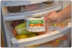 Step 3 - Place VegieFresh in your crisper bin for a full three months. Is that easy! Try it for yourself: http://vegiefresh.com/vegiefresh/order-now.html
