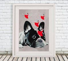 Hip hop Bulldog print frenchie Poster Digital Art by CocktailZoo