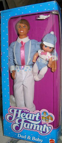 1984 Vtg The Heart Family Dad and Boy Barbie Doll New in Box Mattel 80's #9079