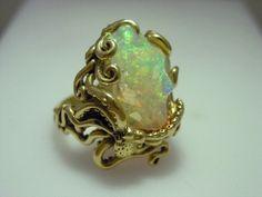 crystal octopus ring