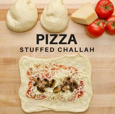 This pizza-stuffed challah is the bread from your dreams. Two of our favorites become one. Check out the video here.