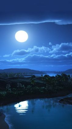 Full Moon Night- I know it's not real but I can sure get lost in just looking at it.
