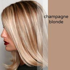 Blonde hair, caramel highlights