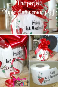 Did you know that the First Wedding Anniversary is the Paper Anniversary? So our embroidered toilet roll is a fun way to say Happy 1st Anniversary. A unique and unusual Wedding Anniversary Gift