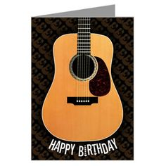 Acoustic Guitar Birthday Card