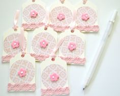 Embellished Tags Gift Tags Decorated Tags by ArtistsCornerShop
