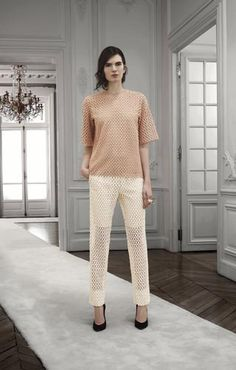 Chloé: Pop-corn embroidery top Pop-corn embroidery pants Round