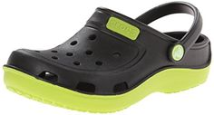 "crocs Duet Wave K Clog (Toddler/Little Kid),Black/Volt M US Toddler The ""C"" on bottom of shoe stands for Children. Clogs Outfit, Toddler Girl Style, Toddler Boys, Kids, Shoes Stand, Curvy Girl Fashion, Strap Heels, Boys Shoes"