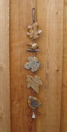 RESERVED for Jennifer - Ceramic Leaves Wall Hanging with Bird - Made with Real Leaves - Clay Decorative Wall String - Leaf Rope - Diy Decoration Hand Built Pottery, Slab Pottery, Ceramic Pottery, Ceramic Wall Art, Ceramic Clay, Clay Tiles, Kids Clay, Tadelakt, Pottery Classes