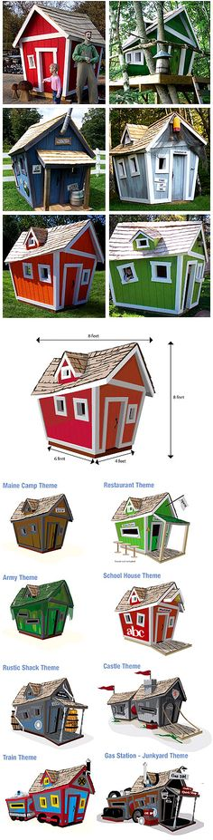 """crooked house"" for the backyard - how cool are these!!!"