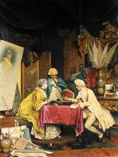 Entertainiong in the Artist's Studio, by Arturo Ricci