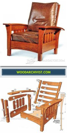 Classic Morris Chair Plans - Furniture Plans and Projects | WoodArchivist.com