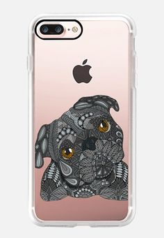 Casetify iPhone 7 Plus Classic Grip Case - Black Pug by Art Love Passion…
