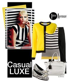 Casual Chic by Joseph Ribkoff by beebeely-look on Polyvore featuring Joseph Ribkoff, Moschino, Salvatore Ferragamo, Reed Krakoff, country, casual, stripes, premiereavenue, premiereavenueboutique and JosephRibkoff