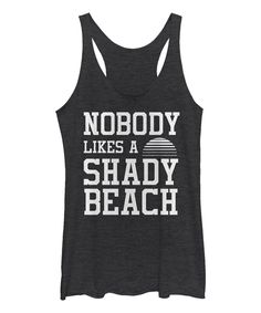 Take a look at this Chin Up Apparel Black Heather 'Shady Beach' Raw-Edge Racerback Tank today!