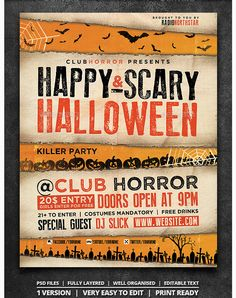 Halloween Party Flyer Template  Party Flyer Templates For Clubs