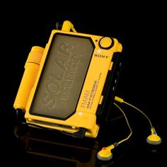 SONY Solar Walkman - WM-F107. Now if only they had one you could use media storage with.