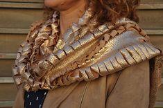 Gold shawl, Gold scarf, Gold shrug, Gold bolero, Gold cover up, Gold cape, Dress cover ups, Gold evening wrap, Evening shrug, Snakeskin wrap #fashion #fashionblogger #bags #boho #bohostyle #tote #totebag #style #styleblogger #fashionista
