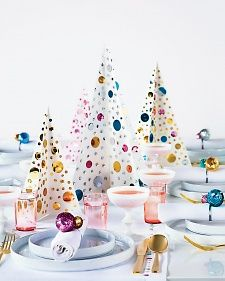 This Christmas centerpiece is a perfect craft project to keep the kids entertained before your holiday meal is served.