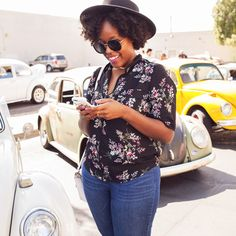 hello silhouette, #ootd, vintage cars, vw bug, car show, cutest outfit ever, floral, perfect summer vibes