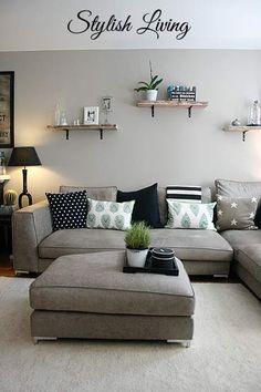 wohnzimmer-modern-gestalten-graue-wandfarbe-taupe-ecksofa ...