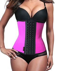 fe8c9a3ab306a Liangxing Womens Latex Waist Trainer Training Girdle Corset Shaper Cinchers  Shapewear     Want to