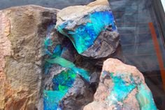 Rough Boulder Opal from Queensland , Australia by D. Rosenkranz Saw some when I was in Australia.