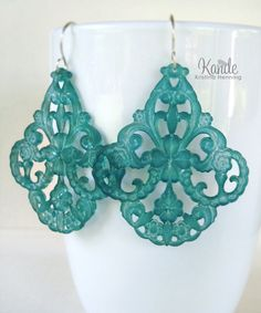 Teal Green Chandelier Earrings Lucite Large Gypsy Fashion Kande For ...1000 x 1200 | 192.4 KB | www.etsy.com