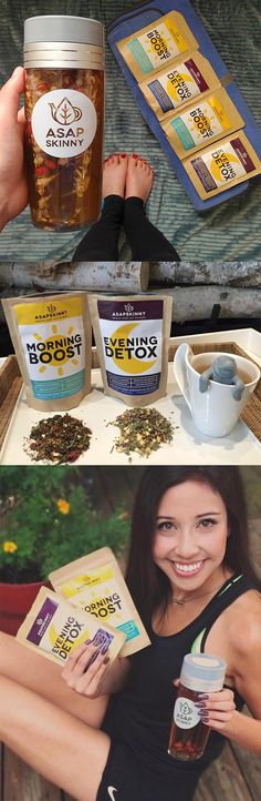 BEST Skinny Tea Kit for Weight Loss! In this awesome package deal, you will receive 28-Day Detox Tea along with our signature brand ASAPSKINNY Tea Bottle. Our 28-Day Teatox is a Non-Laxative, Deliciou